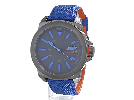 Amazon.com  BOSS Orange Men s 1513008 New York Analog Display Quartz Blue  Watch  Hugo Boss  Watches 30b60c15fa5