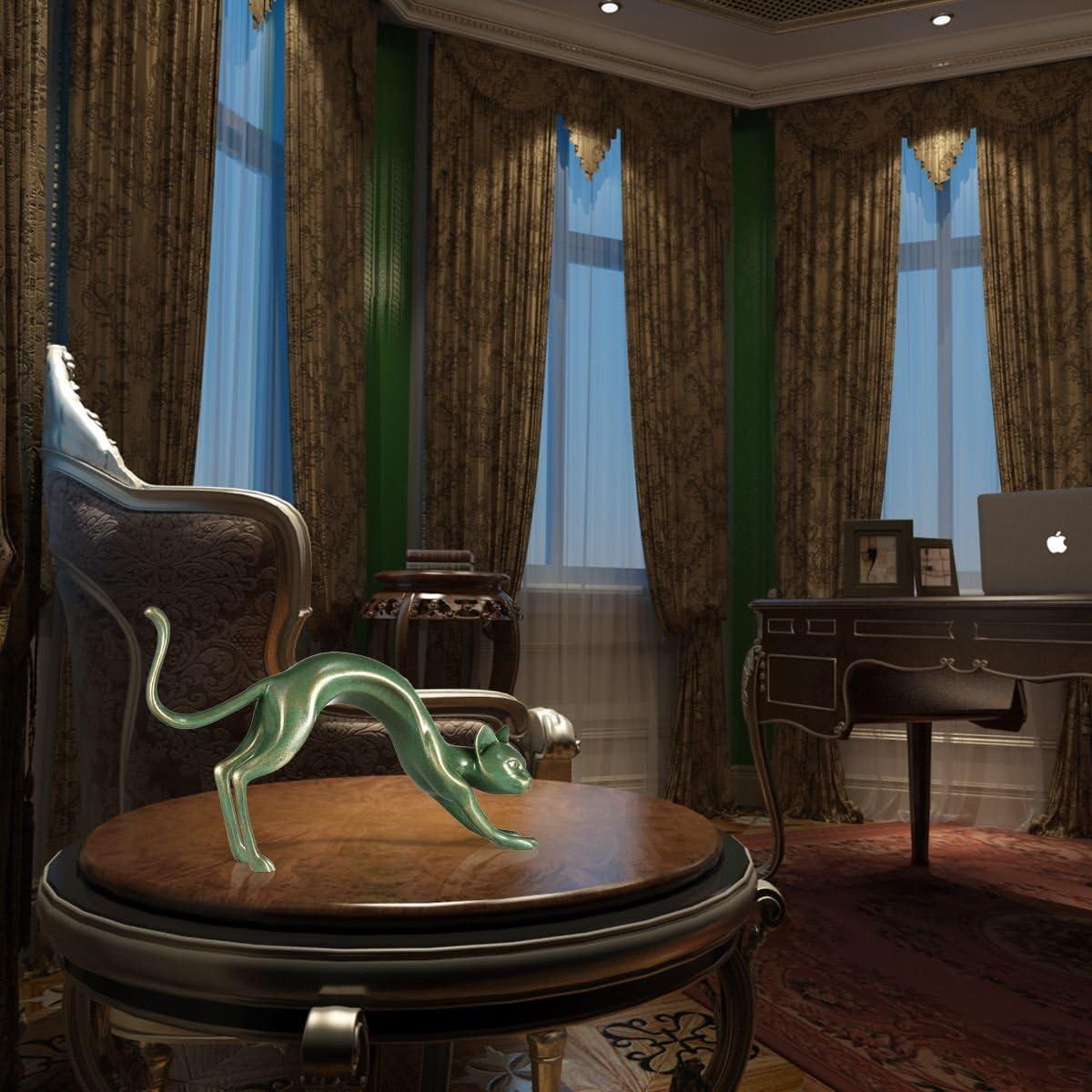 Tooart Figurine de Chat de Sculpture en r/ésine de Chat pour Le d/écor de Bureau /à la Maison