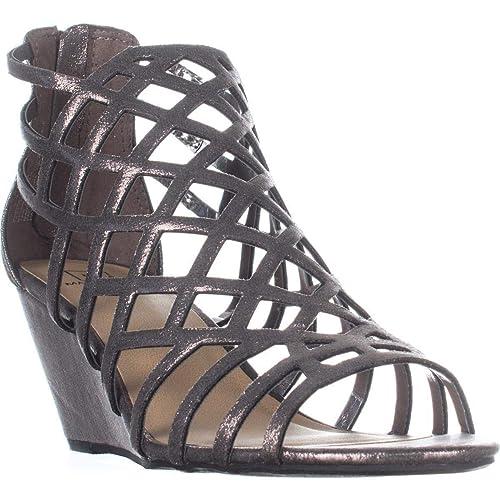 1b7a741f0727b0 Material Girl Womens Henie Open Toe Casual Platform Sandals  Amazon ...