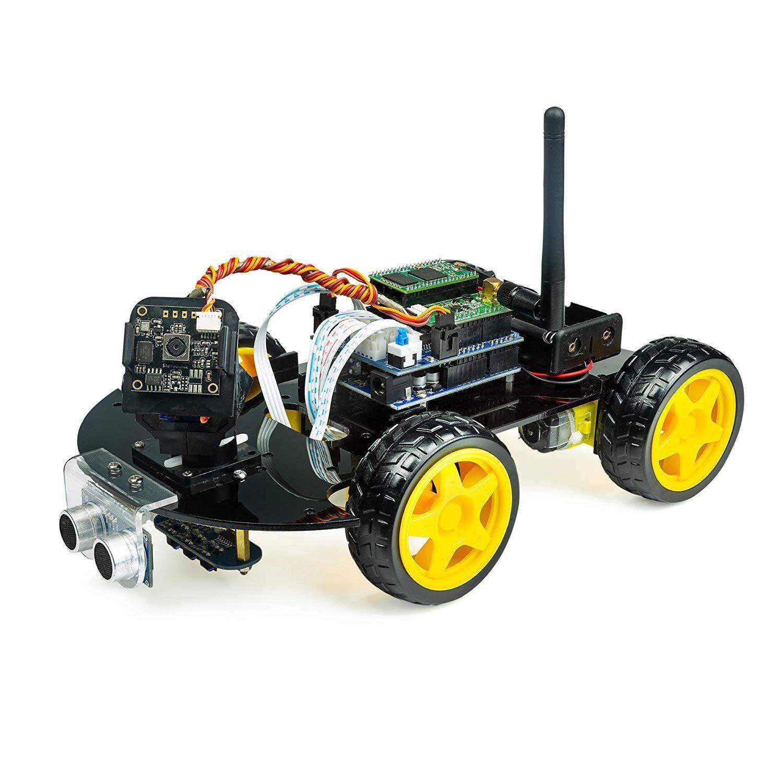 UCTRONICS リアルタイムビデオカメラ、超音波センサー、ライントラッキング、アンドロイド&iOSアプリによるWiFiモジュール付きArduino用WiFiスマートロボットカーキット B07QLGG397