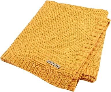 Tomwell Bebé Blanket Manta Saco de Dormir Unisex para Bebés Recién Nacidos Manta para Bebé Carrito Amarillo 100X80 CM: Amazon.es: Ropa y accesorios