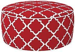 Incidence Paris Pouf in & Out Gonflable Géométrique, Polyester, 54,5 x 54,5 x 24 cm