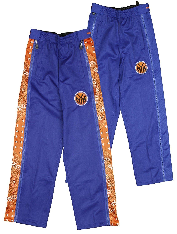 New York Knicks NBA Big Boys Paisley Tear-Away Pants, Blue Zipway