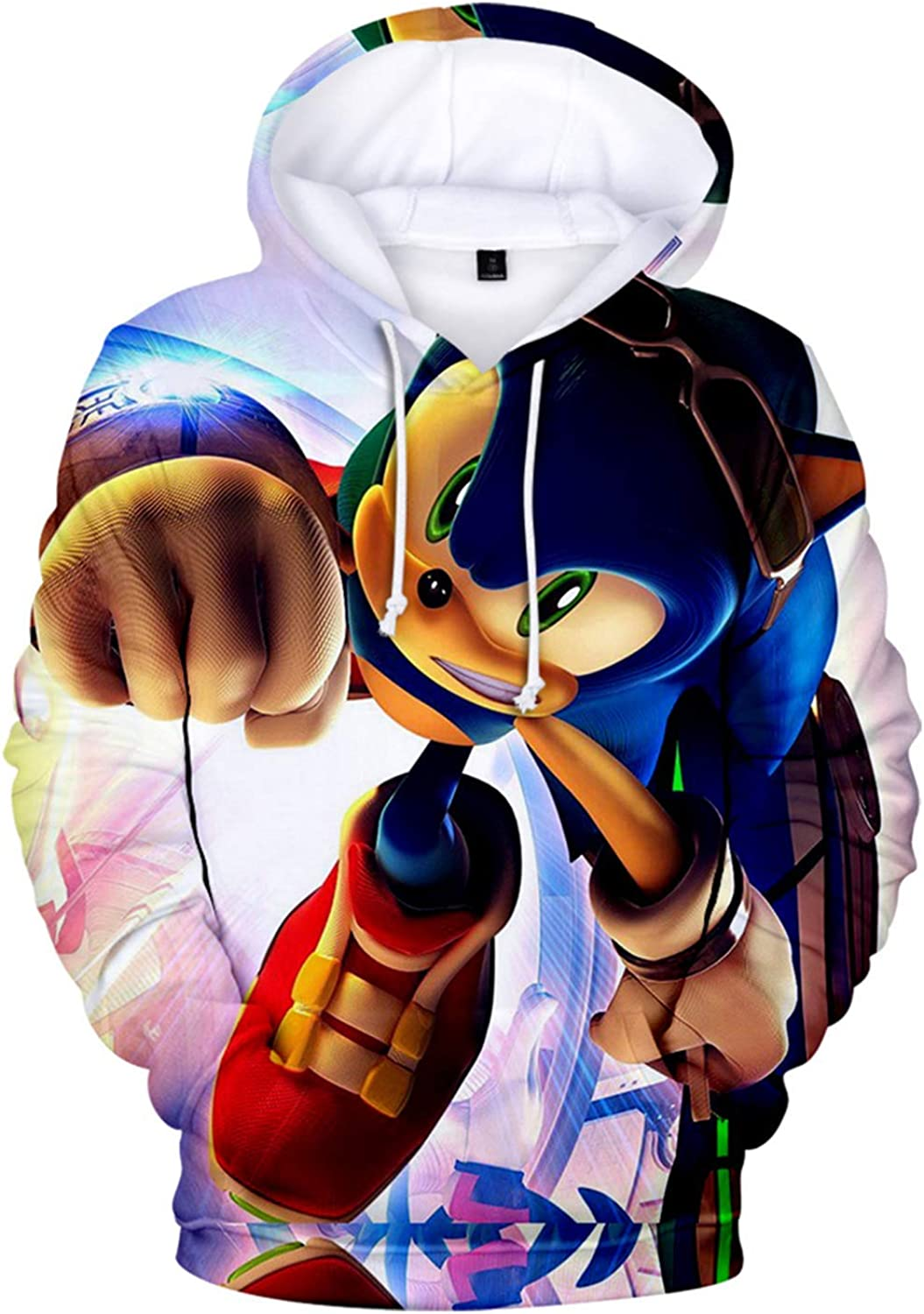 Amazon Com Cheerful D Sonic Hedgehog Unisex Hoodie 3d Printed Hooded Pullover Sweatshirt For Men Women Boys Girls Clothing