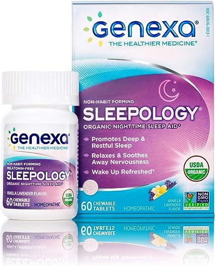 Genexa Sleepology- 180 Tablets   Certified Organic & Non-GMO, Physician Formulated, Homeopathic   Sleep Aid