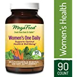 MegaFood - Women's One Daily, Multivitamin Support for Energy Production, Bone Strength, Hormone and Mood Balance with Iron and Vitamin D3, Vegetarian, Gluten-Free, Non-GMO, 90 Tablets (FFP)