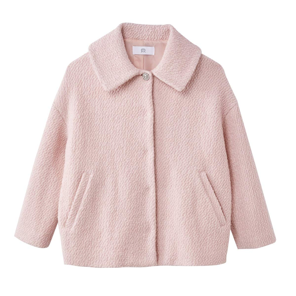 La Redoute Collections Womens Embellished Fastening Wool Mix Coat/&Nbsp;