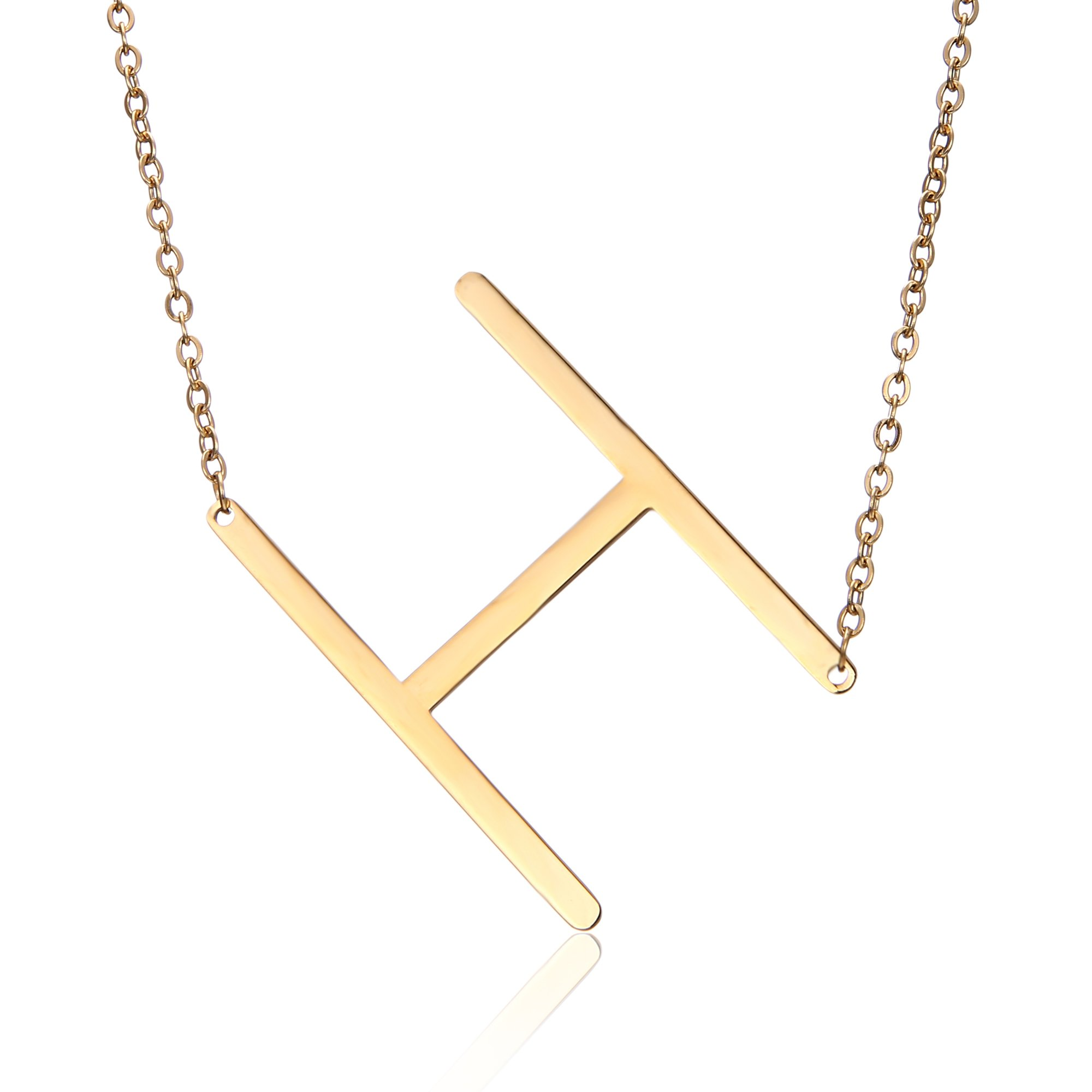 RINHOO Stainless Steel Gold Initial Alphabet 26