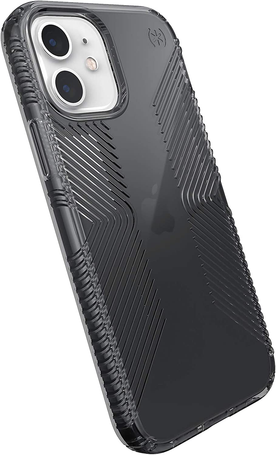 Speck Products Presidio Perfect-Clear Grip iPhone 12, iPhone 12 Pro Case, Obsidian/Obsidian