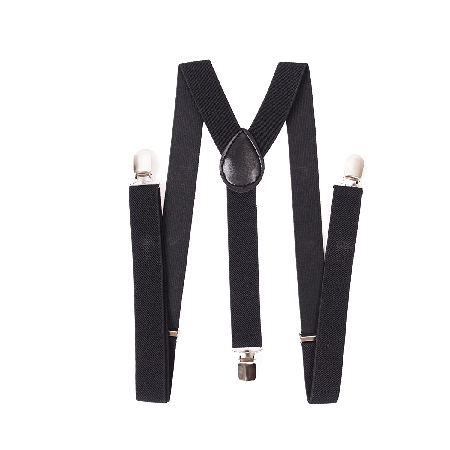 SG/_B00GZZM2FK/_US AJ Accessories Youth Boys Solid Adjustable Nylon Suspenders Black