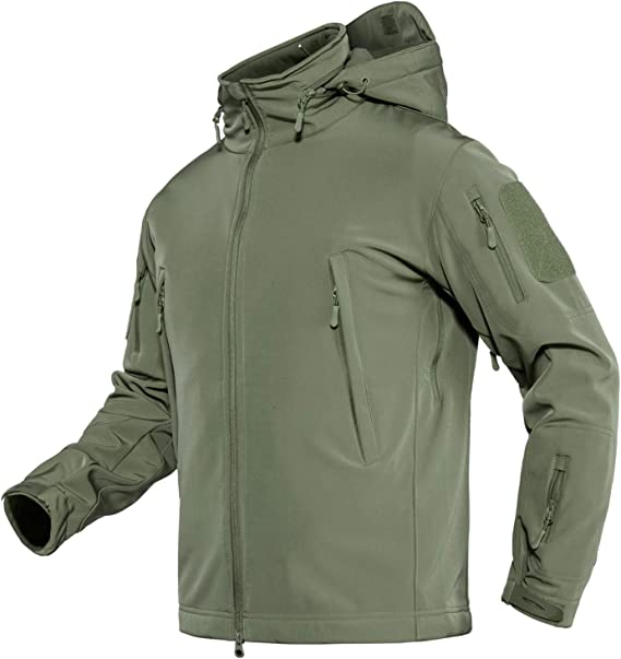 Web-Tex Tactical Softshell Jacket Olive Green Large Waterproof Breathable