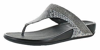 e4f8d8e95737 Fitflop Women s Banda IMI-Snake Thong Sandal  Amazon.co.uk  Shoes   Bags
