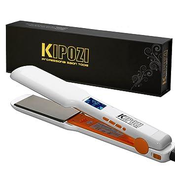 KIPOZI Pro Nano-Titanium Hair Straightener Flat Iron with Digital LCD  Display,Dual Voltage