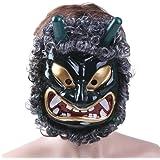 Tinksky Mascara para Halloween Cosplay de Halloween Máscara Veneciana de Fiesta DIY a Mano (Verde