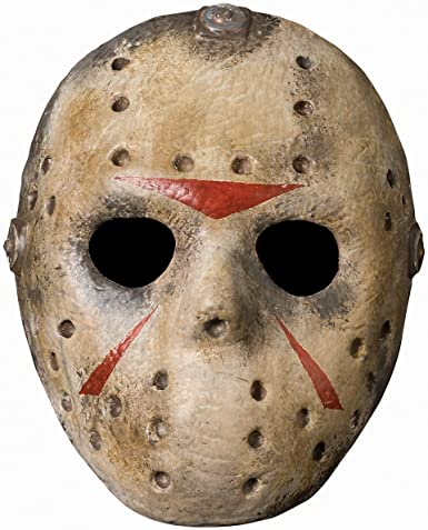 Amazon.com: Deluxe Jason Hockey Mask Costume Accessory: Clothing