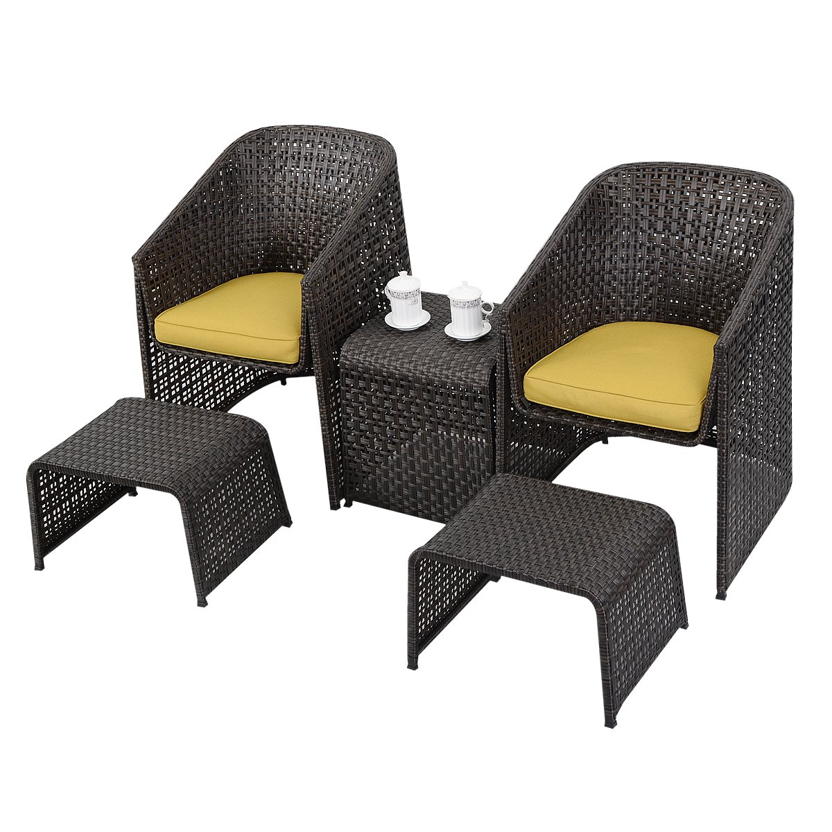 sitzgruppe gartenm bel rattan lounge set polyratten rattenm bel polyester edelstahl tisch sofa. Black Bedroom Furniture Sets. Home Design Ideas