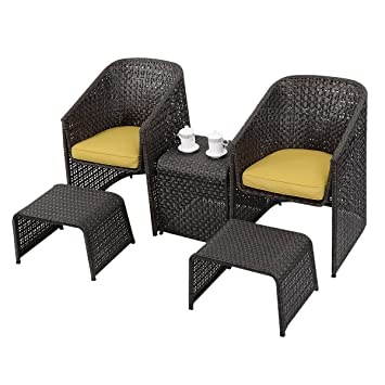 Amazonde Sitzgruppe Gartenmöbel Rattan Lounge Set Polyratten