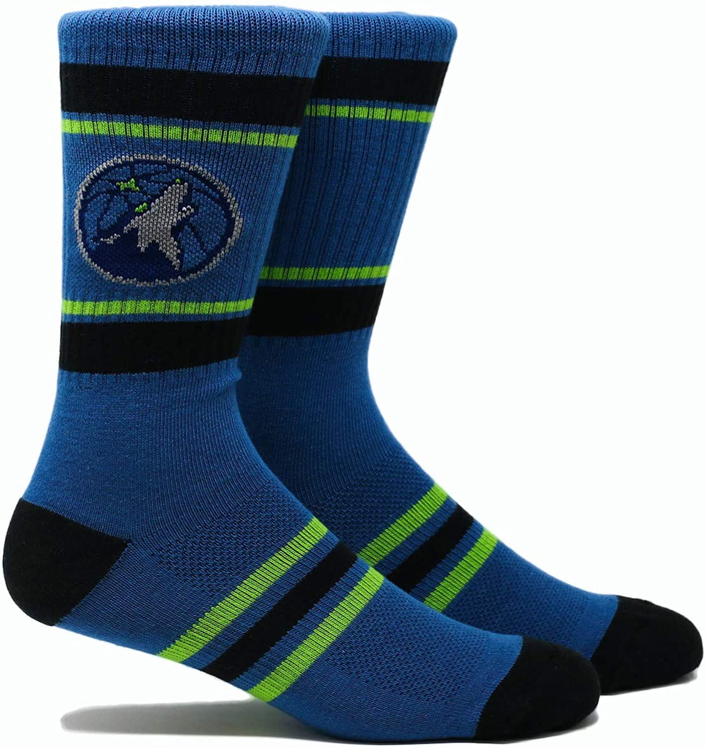 PKWY NBA Minnesota Timberwolves Unisex 1-Pack Crew Socks