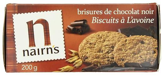 Nairns oscuro chocolate chip Avena Galletas, 7.1-ounce (4 ...