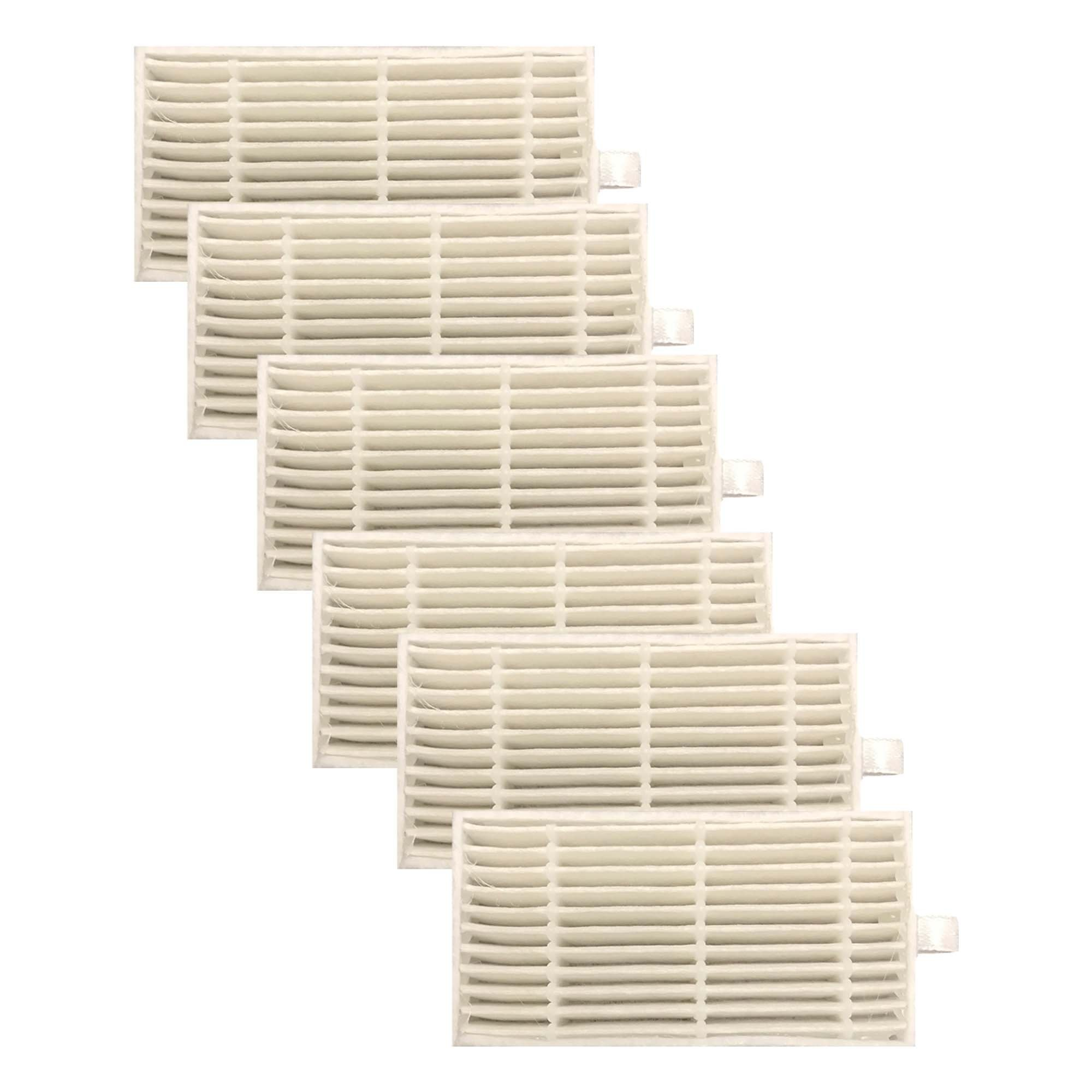 Think Crucial 6 Replacements for iLife Filters, Compatible With V3s, V3s Pro, V5, V5s & V5s Pro Robot Vacuum Cleaners