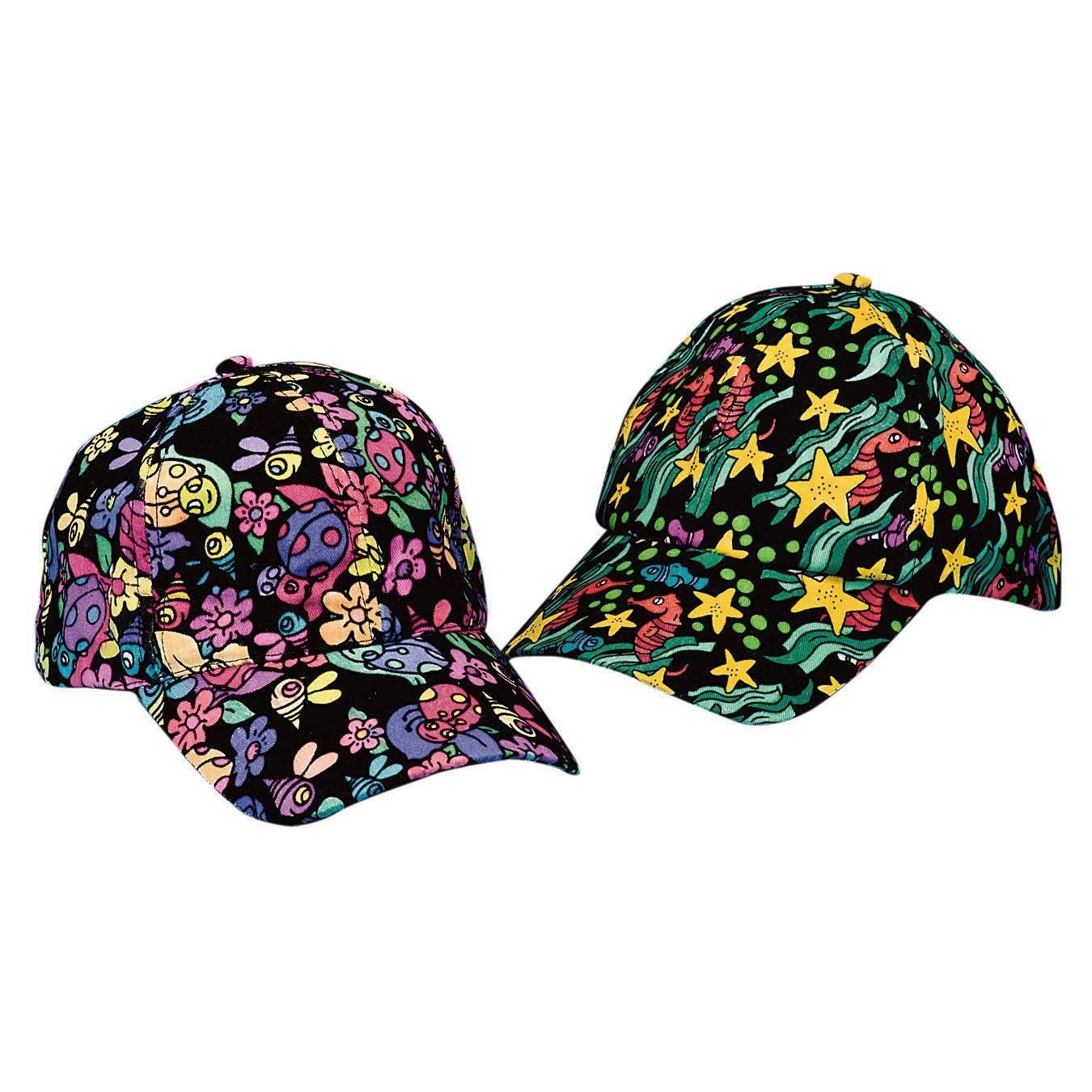 Velvet Art Baseball Caps (Pack of 12) by S&S Worldwide