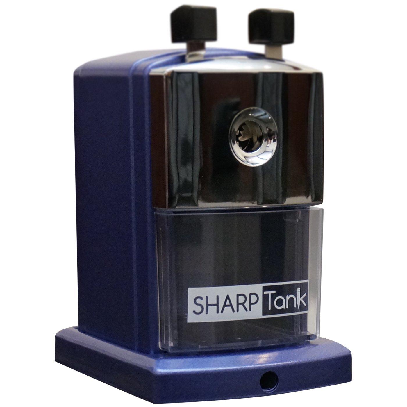 SharpTank - Portable Pencil Sharpener (Metallic Plum) - Compact & Quiet Classroom Sharpener That Gets Straight to The Point! by SHARP TANK