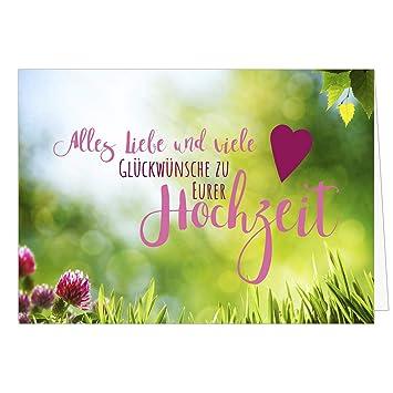 Gluckwunsch Karte Zur Hochzeit Mit Umschlag Rustikale Liebe