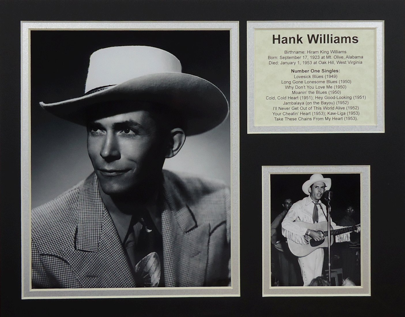 Hank Williams Sr. 11'' X 14'' Unframed Matted Photo Collage By Legends Never Die, Inc.