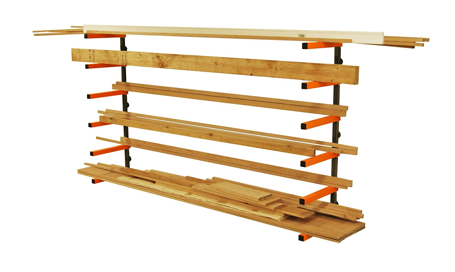 Lumber Storage Rack Portamate PBR 001. Six Level Wall Mount Wood Organizer  Rack That Holds Up To 100 Lbs. Per Level. Ideal For Both Indoor And Outdoor  Use.