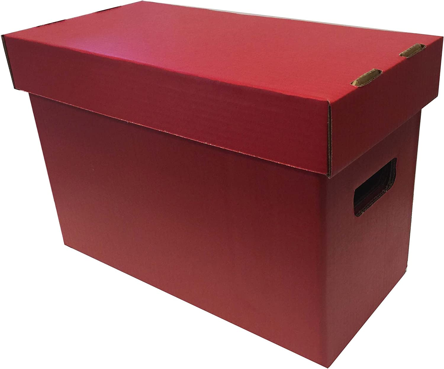 (1) Max Pro Brand SHORT Colored Comic Storage Box - Holds 150 - 175 Comic Books - RED 71iYYZEu2BzL