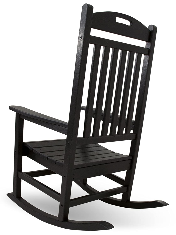 Black outdoor rocking chairs - Amazon Com Trex Outdoor Furniture Yacht Club Rocker Chair Charcoal Black Patio Rocking Chairs Patio Lawn Garden