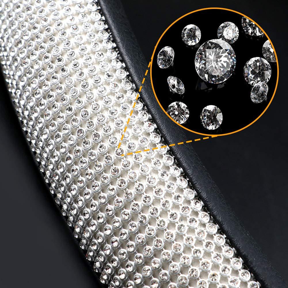 Beige y Negro COFIT Cubierta de Volante de Cuero de Microfibra Transpirable y Antideslizante Universal L 39.2-41cm