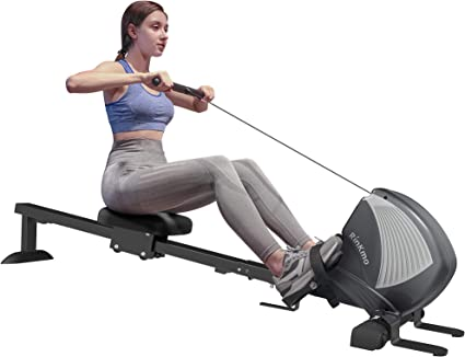 Adjustable Indoor Home Gym Rowing Machine Rower Fitness Cardio Exercise Sports U