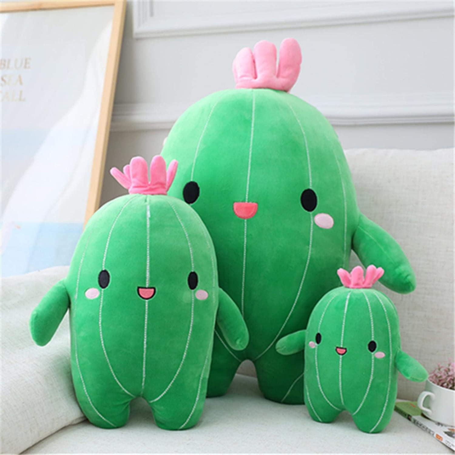 JKLW Toys, Plush Toys, Cute Cactus Dolls, Soft Plush Children's Pillows, Baby Birthday Gifts, 9-15 Inches (About 25/40 cm) 40cm