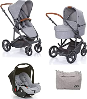 794a4ac705 Kit COMO4 Carrinho com Moisés + Bolsa Woven Gray + Bebê Conforto Style  Street (Cinza