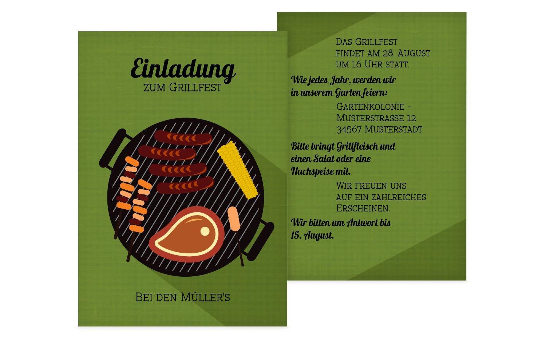 Einladung Sommerfest Grillsaison, 60 Karten, MattBlau B073H3GSWN | Spezielle Funktion  | Spaß  | Für Ihre Wahl