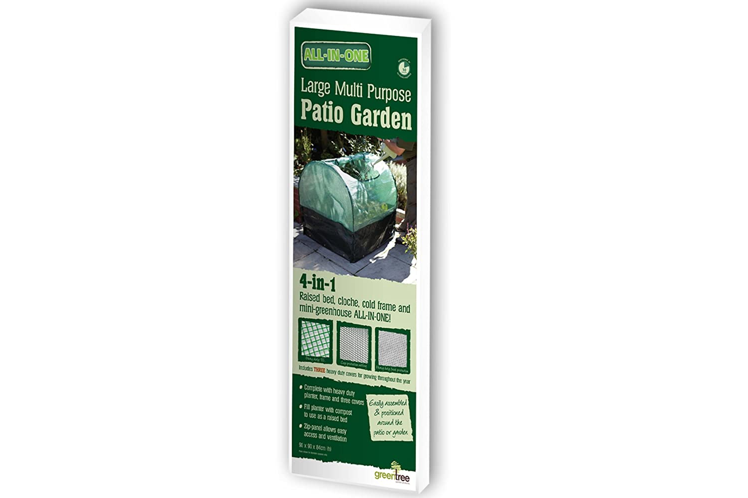 Tall Square Multi-Purpose All-In-One Patio Planter With Covers ...