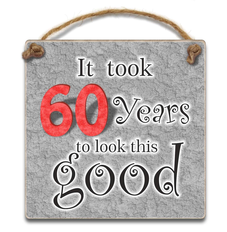 Tardó 60 años a aspecto good, 10 cm para colgar - placa de ...