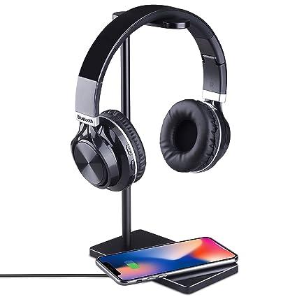 Soporte para Auriculares con Cargador inalámbrico Luxacury, Accesorios del Juego Soporte para Auriculares para Apple