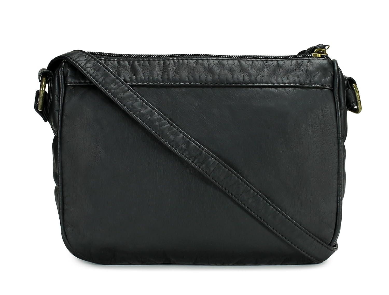 38f080b6378 Scarleton Trendy Quilted Center Crossbody Bag H198901 - Black  Handbags   Amazon.com