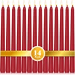 Perkisboby 14 Pack Red Taper Candles, 10 Inch Dripless, Unscented Dinner