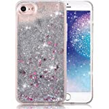 iPhone 6 Plus Case,Crazy Panda® 3D Creative Liquid Glitter Design iPhone 6 Plus Liquid Quicksand Bling Adorable flowing Floating Moving Shine Glitter Case iPhone 6 Plus/6S Plus - Silver Stars