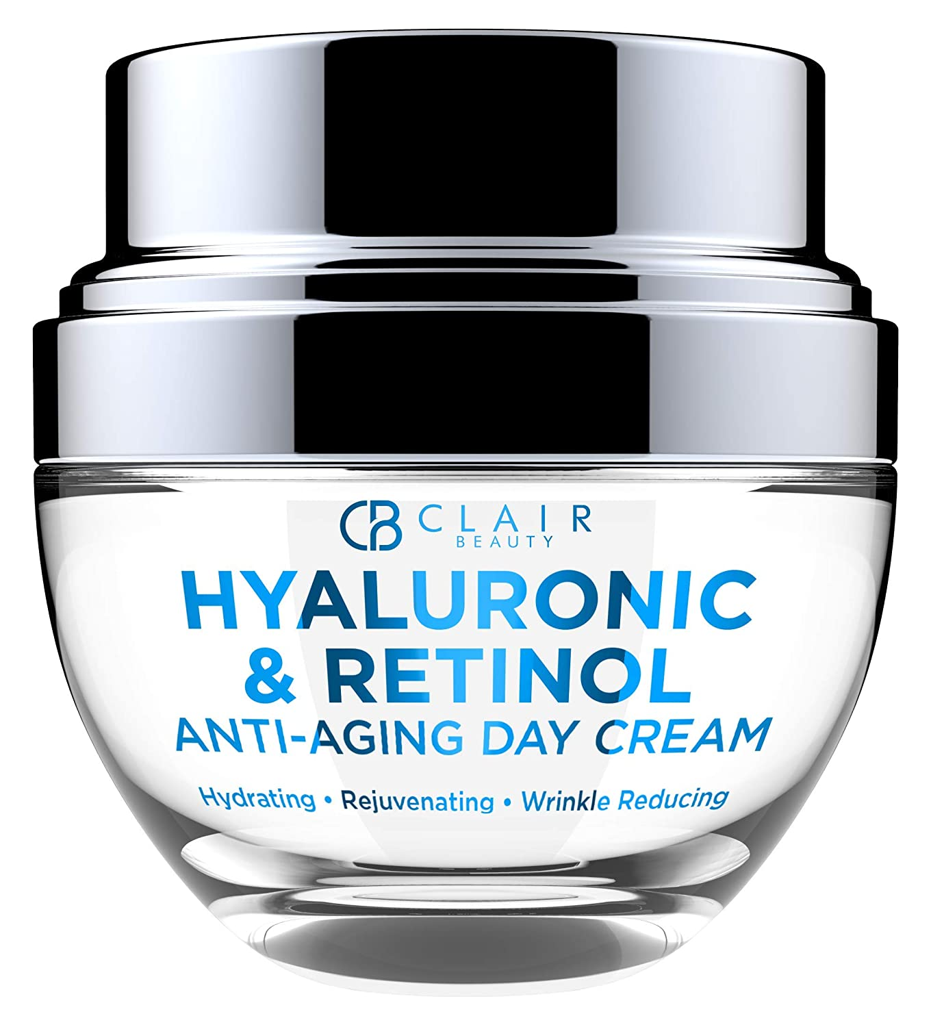 Hyaluronic & Retinol Anti Aging Moisturizing Day Cream - Hydrates & Rejuvenates Skin | Restores Skin Tone | Reduces Appearance Of Wrinkles and Fine Lines - 50mL
