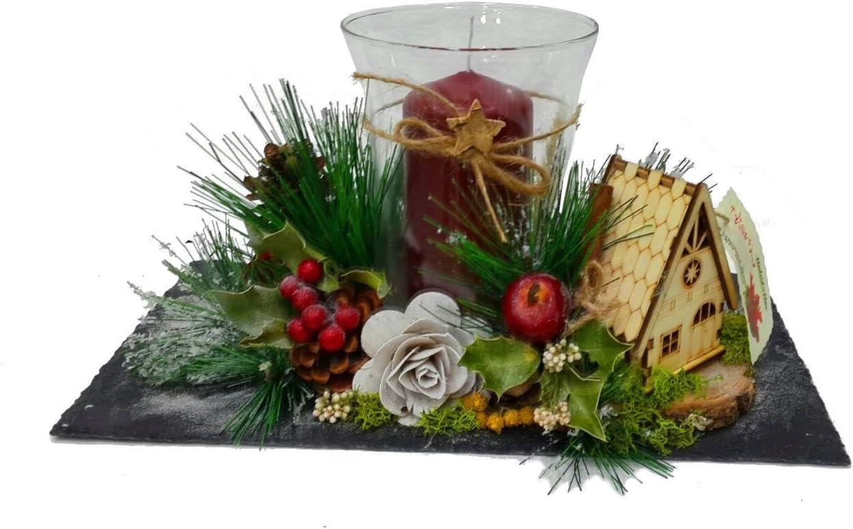 Centro de mesa navidad . Decoración navideña . Diseño exclusivo ...