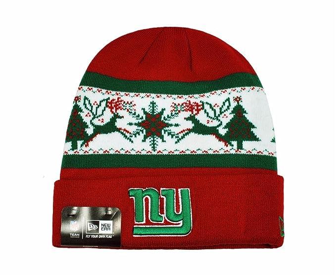 f6695758b NEW ERA NFL Knit Fillz New York Giants Beanie Christmas Red Headwear ...