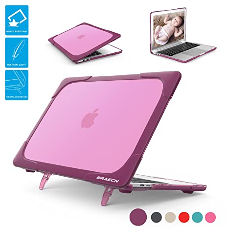BRAECNstock for Macbook 12 Inch Case, [Heavy Duty] Slim Rubberized [Dual Layer