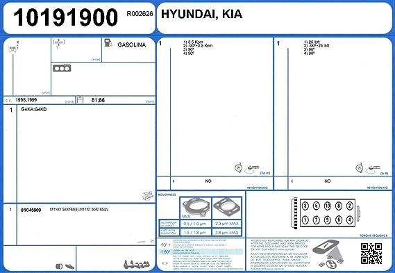 Kia 20910-2GG00 Engine Full Gasket Set