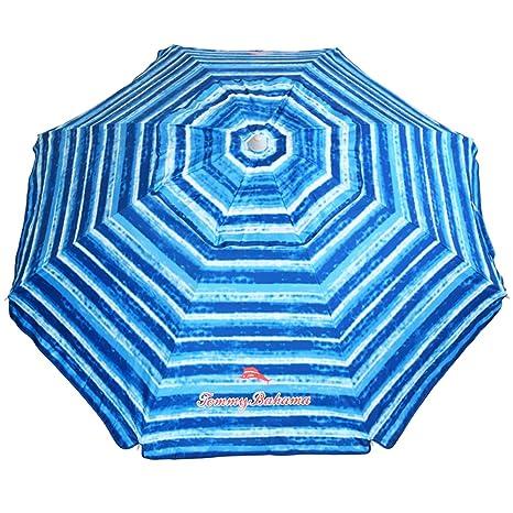Tommy Bahama Sand Anchor Beach Umbrella SPF 100+ Sun Protection (Blue/White)  sc 1 st  Amazon.com & Amazon.com: Tommy Bahama Sand Anchor Beach Umbrella SPF 100+ Sun ...