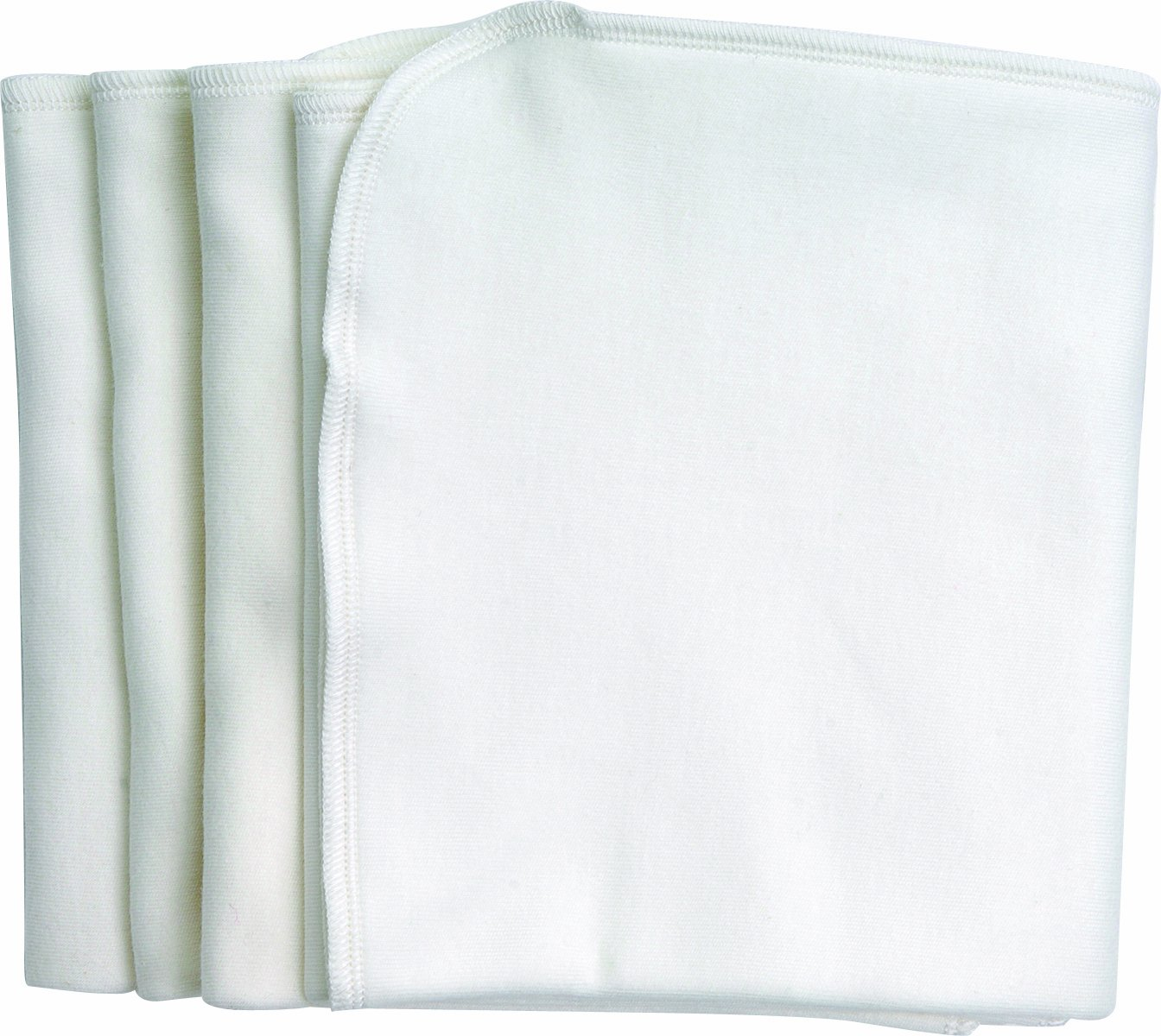 Under the Nile Burp Cloths, White, 4-Count BC-285