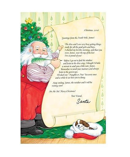 Personalizado de Papá Noel lindo lista carta: Amazon.es: Hogar